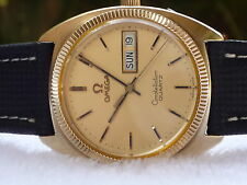 OMEGA Constellation 34MM quartz 10k Gold and steel quick set Calendar Swiss Made