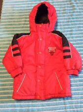 TODDLER BOYS NBA CHICAGO BULLS INSULATED WINTER JACKET COAT PARKA 2T