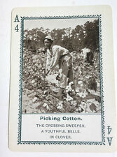 Picking Cotton 1897 In Dixie-Land Playing Game Card #A4- Black Americana