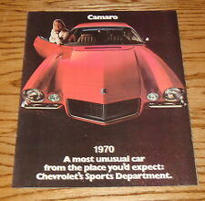 1970 Chevrolet Camaro Sales Brochure 70 Chevy SS RS
