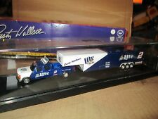 F350 ford ACTION MILLER lite #2 dually pickup truck trailer RUSTY WALLACE 1/64
