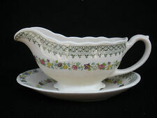 Mason's Madrigal Gravy Boat Sauce Dish with Underplate Ironstone England
