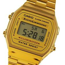 Casio Men's A168WG-9WDF WATCH Gold Stainless Steel CLASSIC BRAND NEW