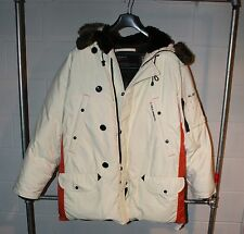 Vintage Ralph Lauren Polo Arctic Down White Parka L RUNS BIG