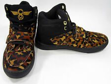 Creative Recreation Shoes Cota Hi Leopard Mohair Black Sneakers Size 8 EUR 40.5