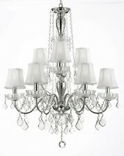 ELEGANT 9 LIGHTS CRYSTAL CHANDELIER SHADE LIGHTING FIXTURE PENDANT CEILING LAMP