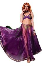 Women's Club Burlesque Mardi Gras Belly Dancer Costume Fancy Dress Bra Gypsy Md