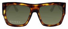 Gucci GG3817 VGJ Light Havana Tortoise Acetate Brown 55mm Lens Sunglasses New