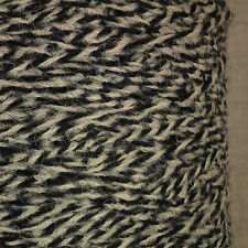 SOFT ALPACA MERINO BLEND 4 PLY YARN 500g CONE / 10 BALLS BLACK GREY LUXURY WOOL