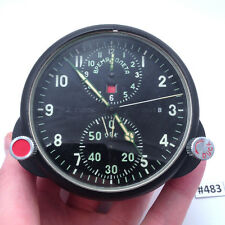 AChS-1 Vintage Soviet USSR Military AirForce Airraft Cockpit Clock MIG/SU #483