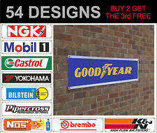 NGK Mobil1 castrol goodyear banner sign workshop garage track advertisement