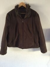 Principles Jacket Top Faux Fur Trim Size 18  R4137