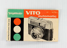 Original Voigtlander Vito Automatic Manual - 20 pages - December 1961
