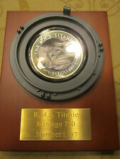 5 oz Silver Mother of Pearl Titanic 100th Anniversary Commemorative FIJI Coin