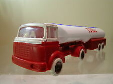 BERLIET GAK ART.TANK TRUCK /TRAILER TOTAL PROMO PLASTIC WHITE/RED SCALE 1:43