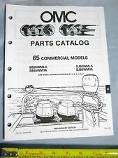 1989 Johnson Evinrude 65 HP Commercial Outboard Boat Motor Parts Catalog 433758