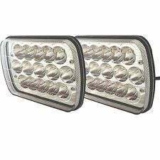 "Pair Kenworth T300 1997-2010 7x6"" inch 15 LED Headlights High/Low Beam 4000LM"