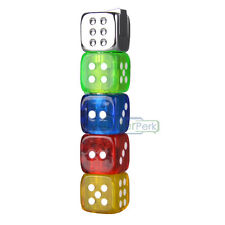 Colorful Dice Shaped Refillable Butane Gas Lighter Torch Jet For Cigarette Smoke