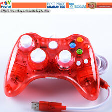 New Red LED USB Wired Controller For Xbox 360 Slim PC Games Windows 7 Windows 8