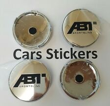 Set of 4 ABT Chrome Sport Alloy Wheel Center Caps Hub  Audi VW Golf A 3 6 8 60mm