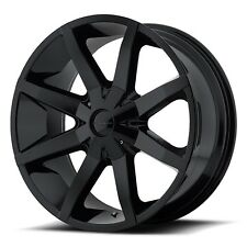 20 Inch Wheels Rims Gloss Black Ford F150 Truck 5x135 Lug KM651 Slide Set of 4
