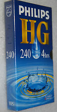 PHILLIPS HG 240/ 4 HOURS BLANK VIDEO TAPE BLANK VHS SEALED NEW VHS RECORDING