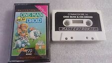 ONE MAN AND & HIS DROID CINTA CASSETTE JUEGO COMMODORE 16 C16 PLUS 4 PAL