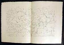 """Jacques Villon, né Gaston Émile Duchamp gravure  """"Les Frontières du matin""""  1962"""