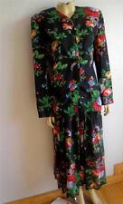 Vintage Susan Bristol floral rayon skirt suit jacket dress 8
