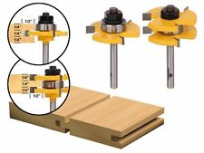 Yonico 15221q Tongue and Groove Router Bit Set with 3/4-Inch Stock 1/4-Inch Shan