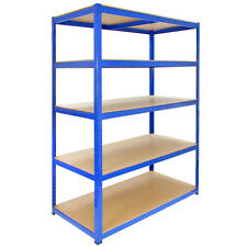 1 Bay Garage Storage / Shed Shelving Unit 5 Tier 1200mm wide x 600mm Deep T-RAX