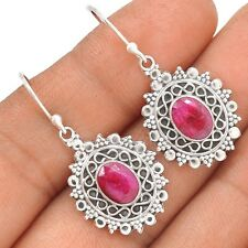 Ruby 925 Sterling Silver Earrings Jewelry SE127370