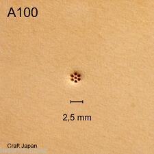 Punziereisen, Lederstempel, Punzierstempel, Leather Stamp, A100 - Craft Japan