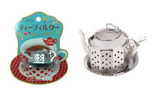 1 New Stainless Steel Teapot Shape Tea Herb Locking Infuser Strainer Filter