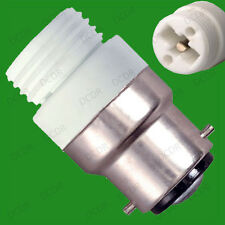 Bayonet, BC, B22 To G9 Halogen or LED Light Bulb Adaptor Lamp Socket Converter