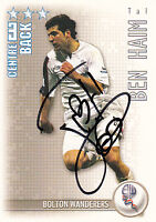 Bolton Wanderers F.C Tal Ben Haim Hand Signed 06/07 Premiership Shoot Out Card.