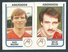 PANINI FOOTBALL 84-#440-A-B-ABERDEEN-ALEX McLEISH / WILLIE MILLER