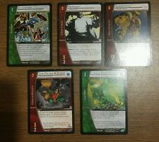 Lot of 5 VS System CCG: Sabretooth, Kingpin, Robin, Playroom, Central Power Batt