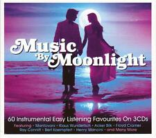 MUSIC BY MOONLIGHT - 60 INSTRUMENTAL EASY LISTENING FAVOURITES (NEW SEALED 3CD)