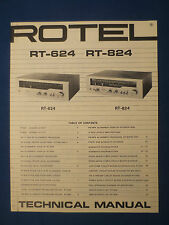 ROTEL RT-824 RT-624 TUNER TECHNICAL SERVICE MANUAL FACTORY ORIGINAL