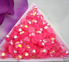 200pcs Rose Pink AB 6mm ss30 Flat Back Resin Rhinestones Diamante Strass Gems