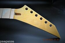 New Maple Guitar Neck Shark Fin Pearloid Inlay 24 Fret Maple Fret Board
