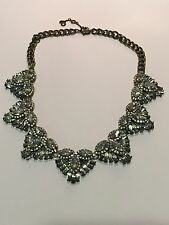 "$58 Baublebar Marquise & Tiny Rhinestone Necklace Brass-Tone Chain 20"" Long"