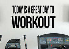 Workout Motivational Quotes Wall Decal Inspirational Quotes Vinyl Sticker Gym 7