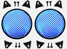 """2X Blue 10"""" inch Sub Woofer Speaker Mesh WAFFLE GRILLS Protective Covers VWLTW"""
