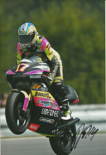 Randy de Puniet Hand Signed Aprilia 250cc 2002 12x8 Photo 1.