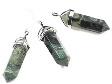 Healing Kambaba Jasper Crystal Point pendant & SP chain, Diet cleansing Toxins