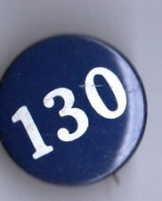 old pin # Number numeral 130 button