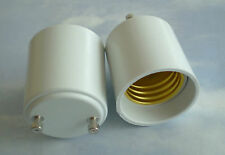 TWO (2) Adapters to Use E27/E26 Light Bulbs in a GU24 fixture base Adapter