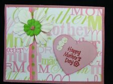 Handmade  Mothers MOTHER'S DAY Card Using Stampin Up Prima Flowers Heart Brad
